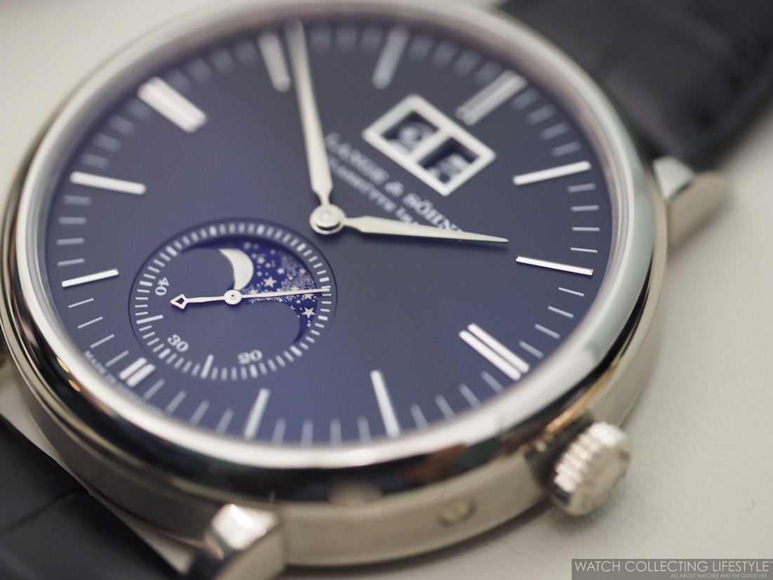 A. Lange & Söhne Saxonia Moonphase with Black Dial