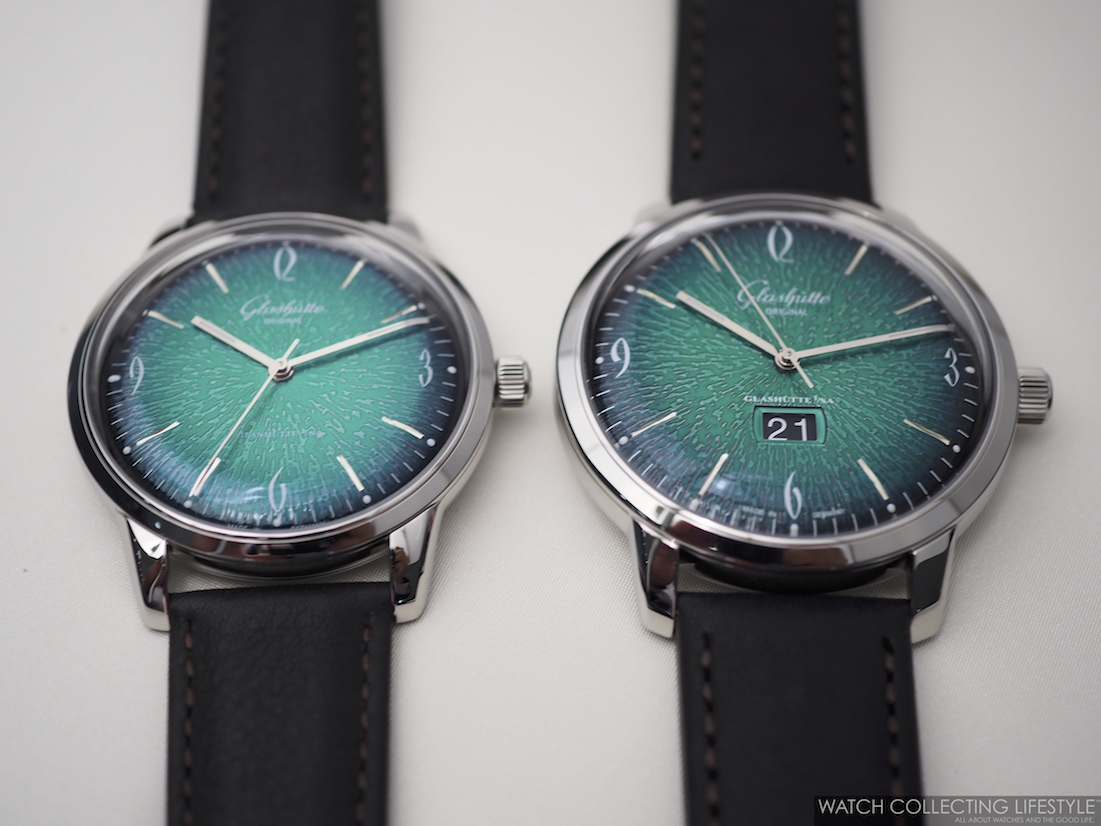 Glashütte Original Sixties Panorama Date Green and Sixties Time Only