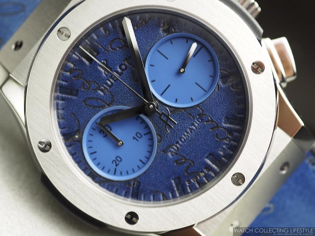 Hublot Classic Fusion Chronograph Berluti Scritto Ocean Blue