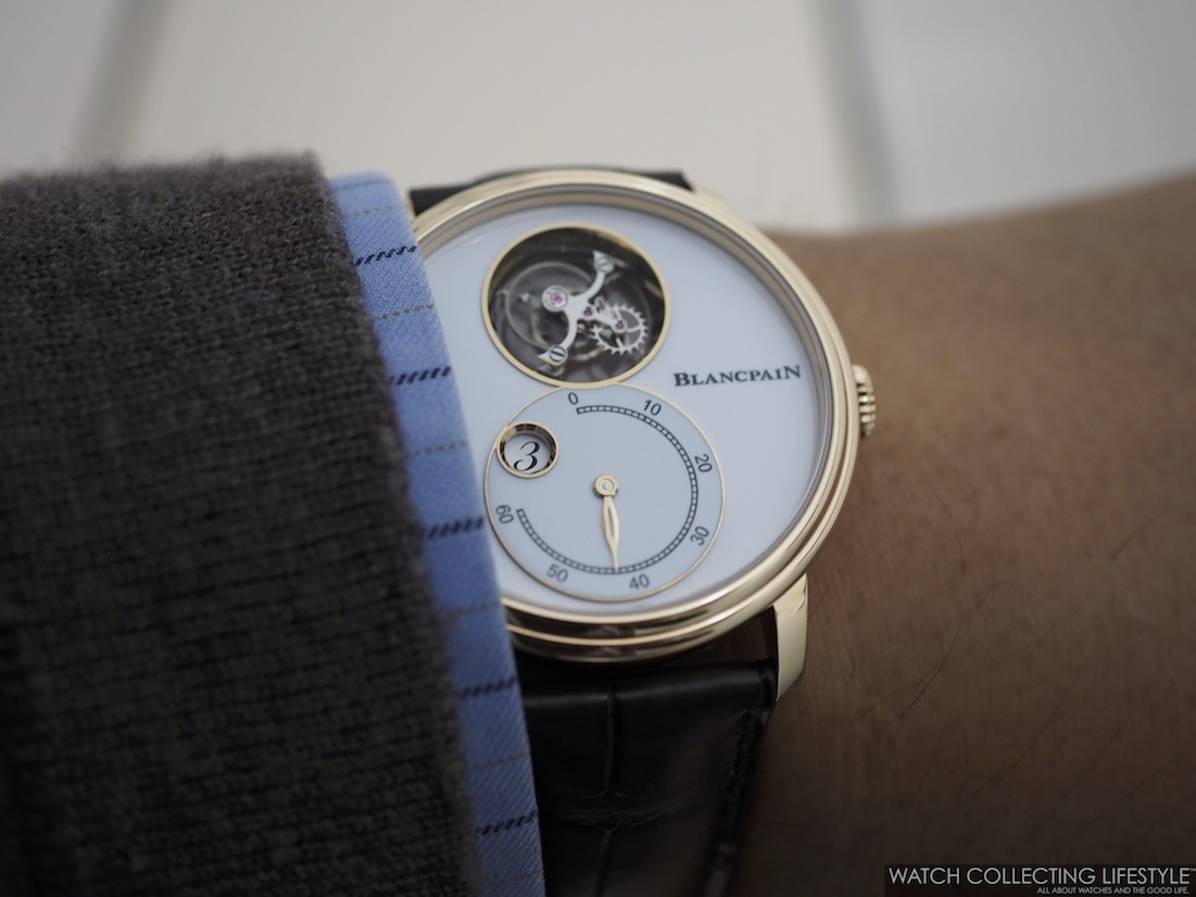 Blancpain Flying Tourbillon Jumping Hours Retrograde Minutes Wristshot WCL
