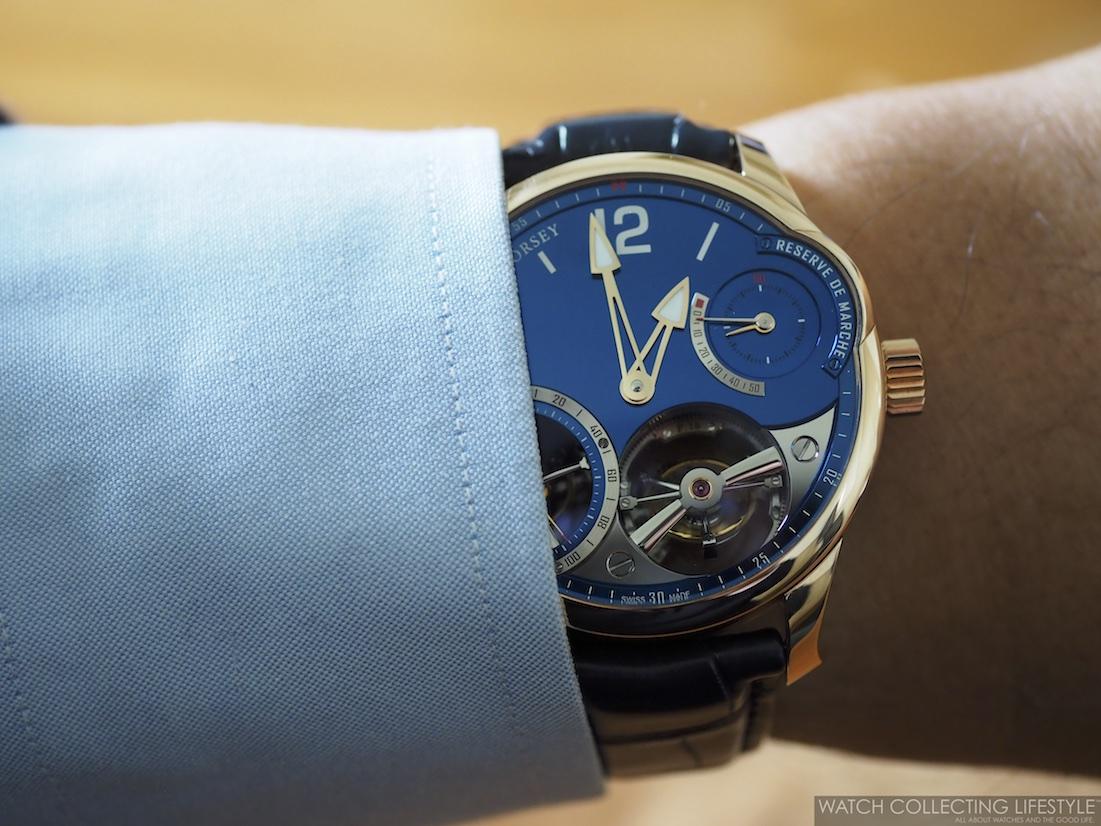Greubel Forsey Quadruple Tourbillon Blue Wristshot