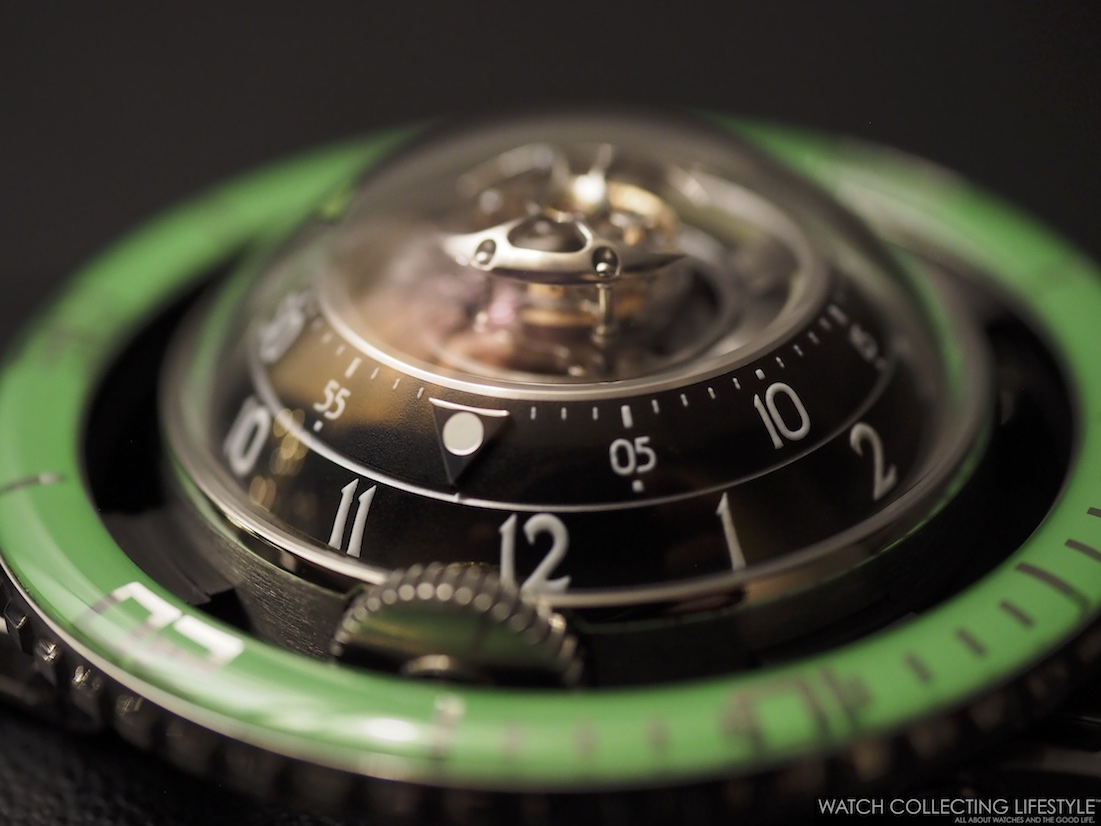 MB&F Horological Machine No. 7 HM7 Aquapod Green Profile WCL