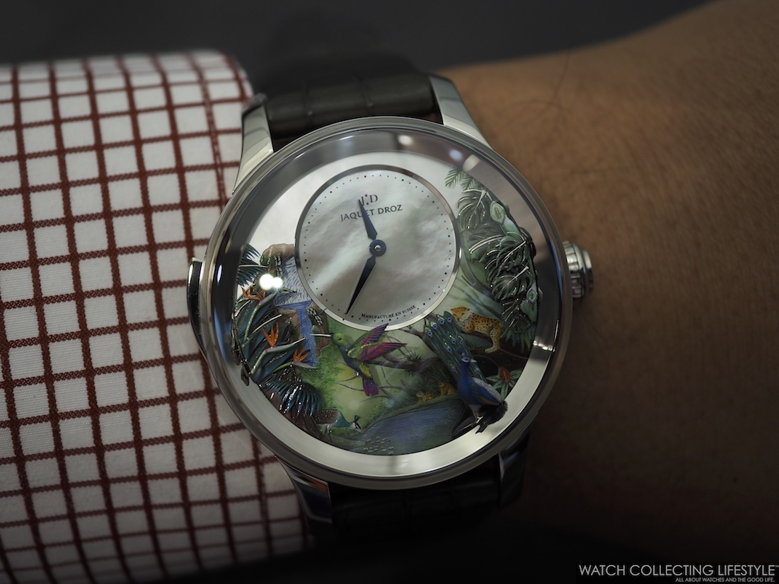 Jaquet Droz Tropical Bird Repeater WCL Wristshot