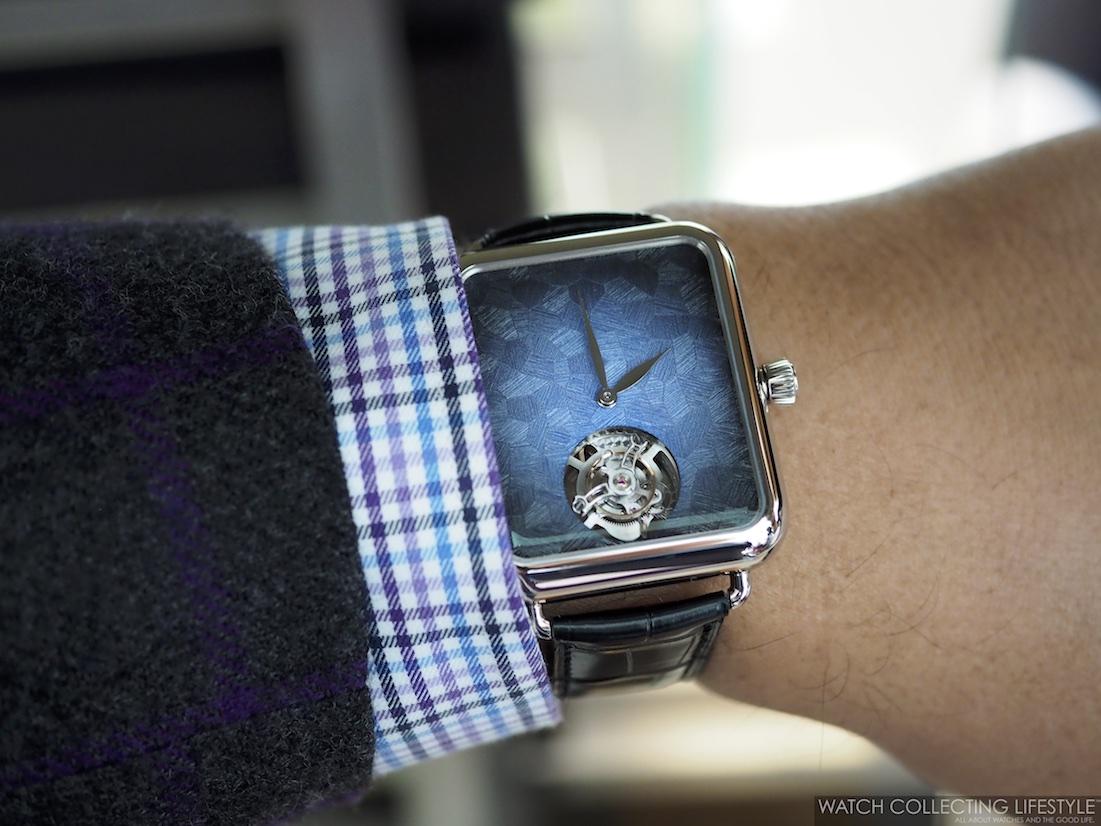 H. Moser & Cie. Swiss Alp Watch Minute Repeater Tourbillon Wristshot