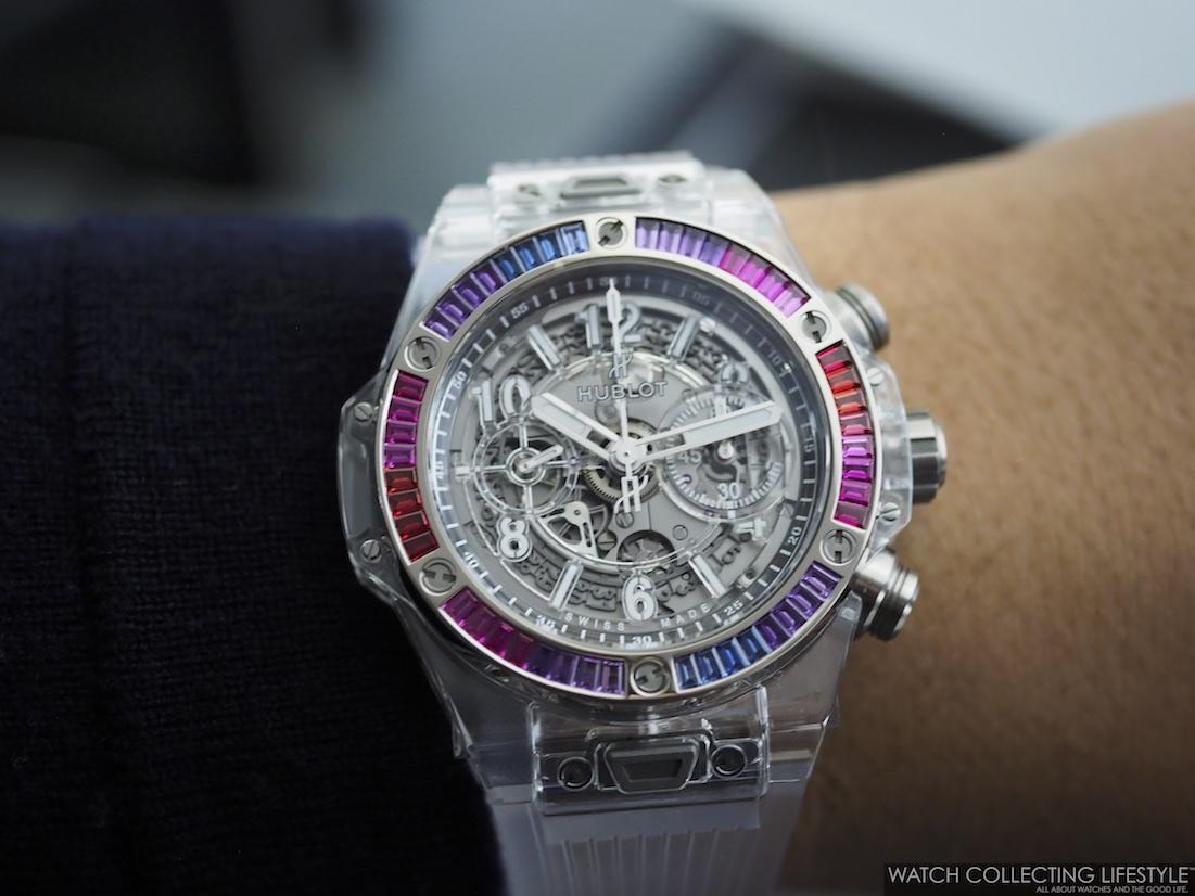 Hublot Big Bang Unico Sapphire Rainbow Wristshot