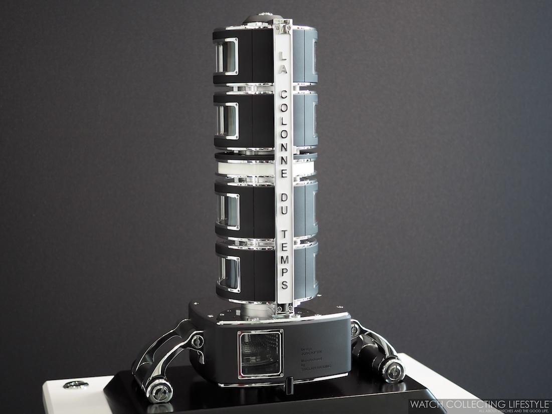 Hysek Design La Colonne du Temps Clock WCL5