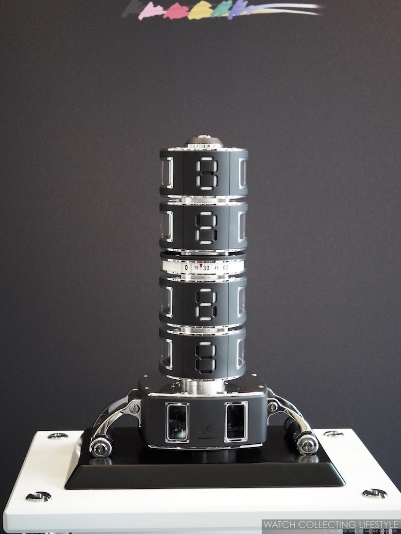 Hysek Design La Colonne du Temps Clock WCL