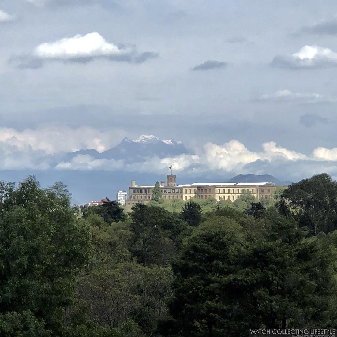 Castillo de Chapultepec e Iztaccihuatl