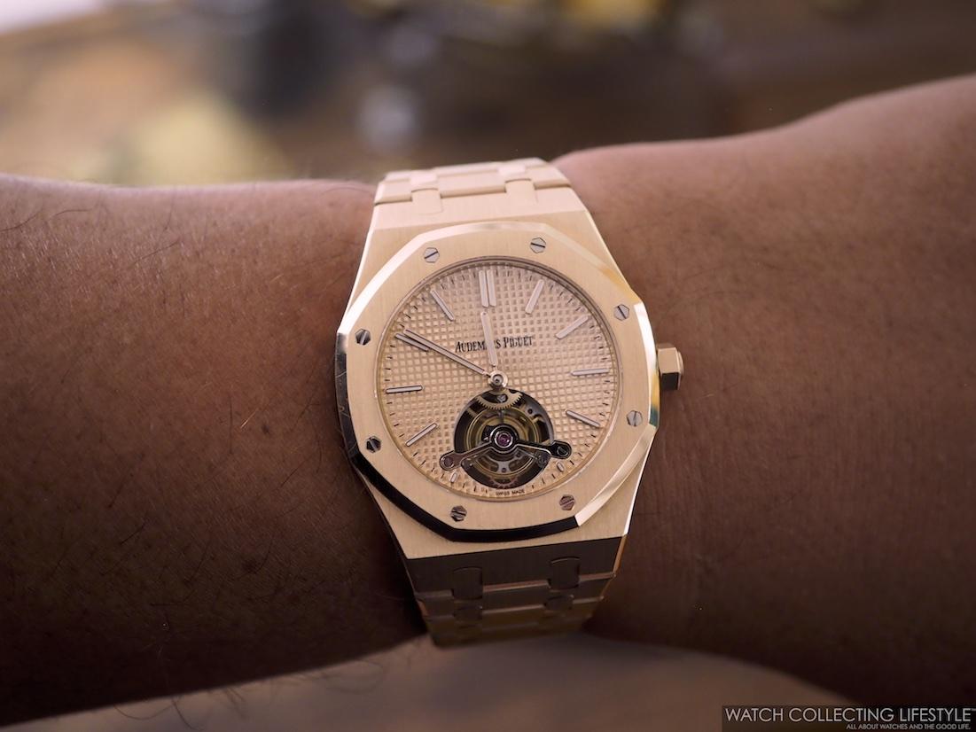 AP Royal Oak Tourbillon Extra-Thin Westime Special Edition Wristshot