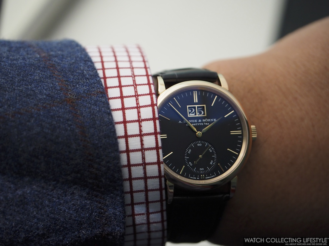 A. Lange & Söhne Saxonia Outsize Date Wristshot