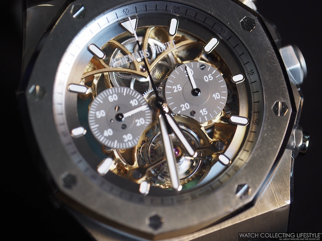 Audemars Piguet Royal Oak Tourbillon Chrono Openworked ref. 26347TI for Material Good