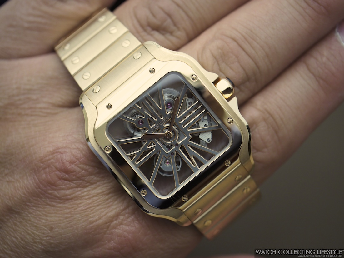 Santos de Cartier Skeleton Large WCL