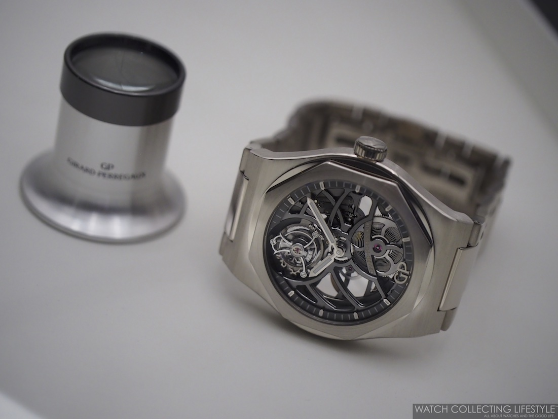 Girard-Perregaux Laureato Flying Tourbillon Skeleton with loupe