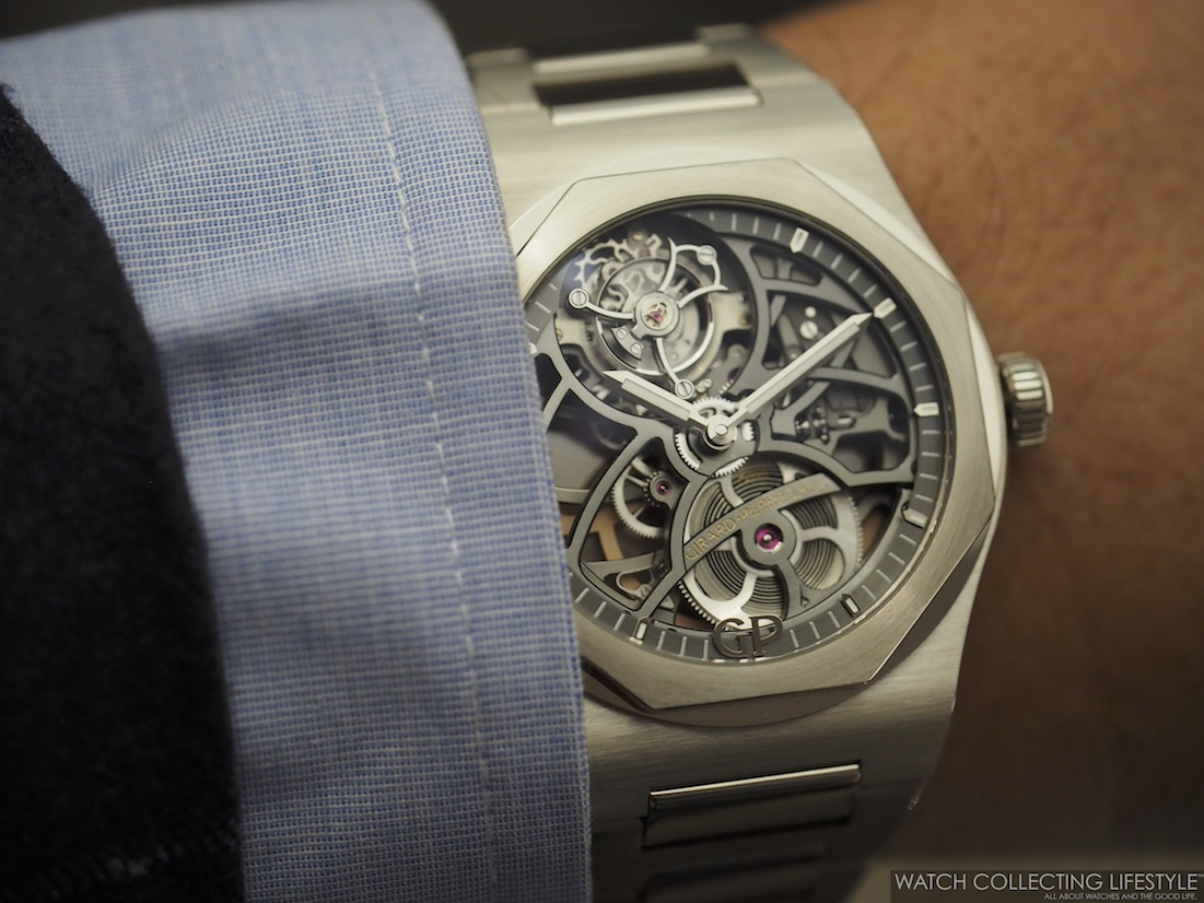 Girard-Perregaux Laureato Flying Tourbillon Skeleton Wristshot