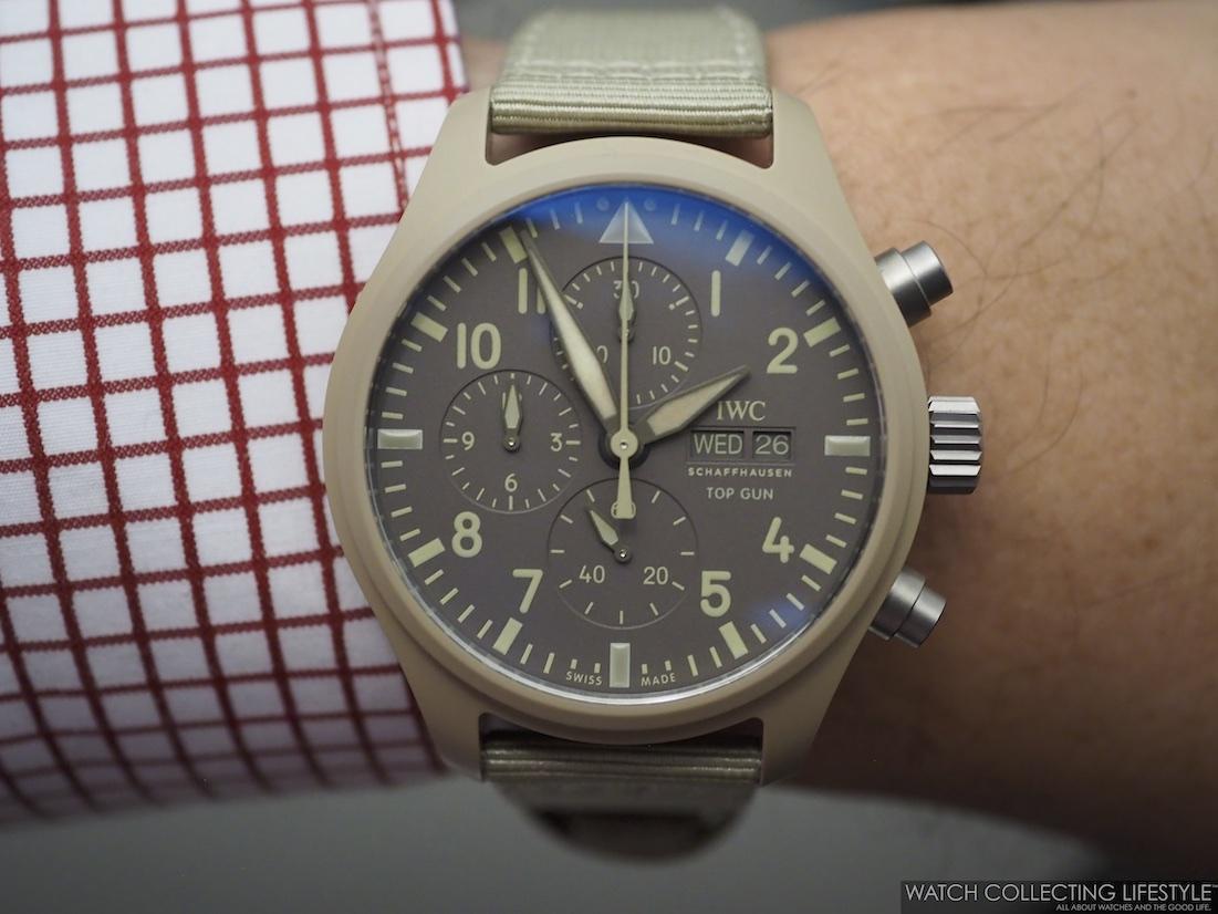 IWC Pilot's Watch Chronograph Top Gun Edition 'Mojave Desert' Wristshot