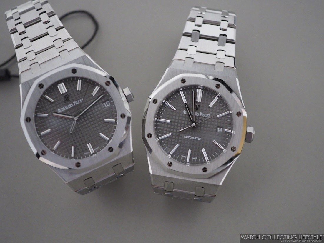 Side-by-side Comparison Audemars Piguet Royal Oak ref. 15500ST vs. Royal Oak ref. 15400ST