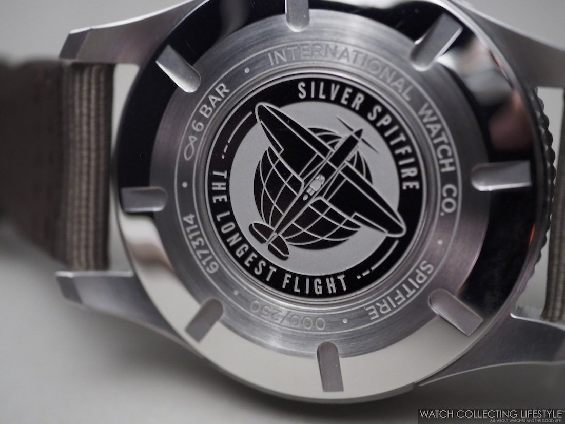 "IWC Pilot's Watch Timezoner Spitfire Edition ""The Longest Flight"" Case Back"