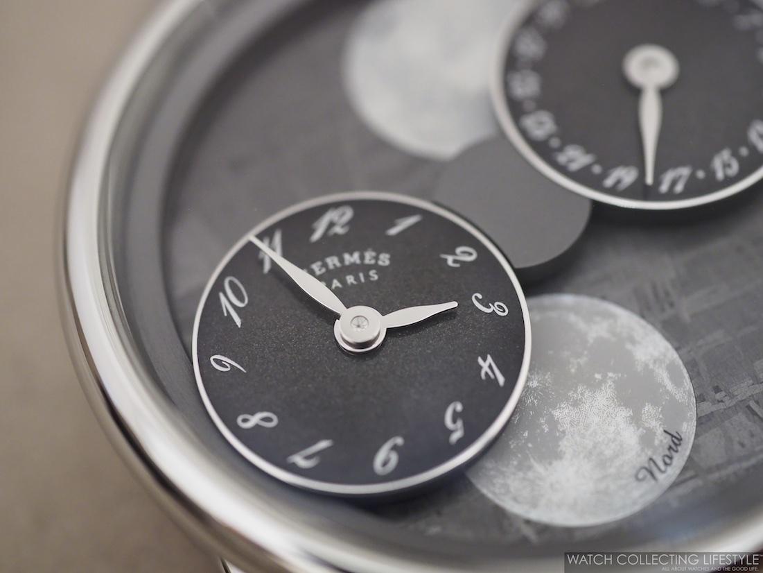 Hermès Arceau L'Heure De La Lune Meteorite Dial
