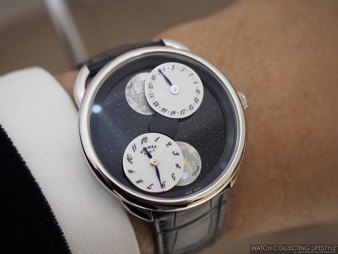 Hermès Arceau L'Heure De La Lune Aventurine Wristshot WCL