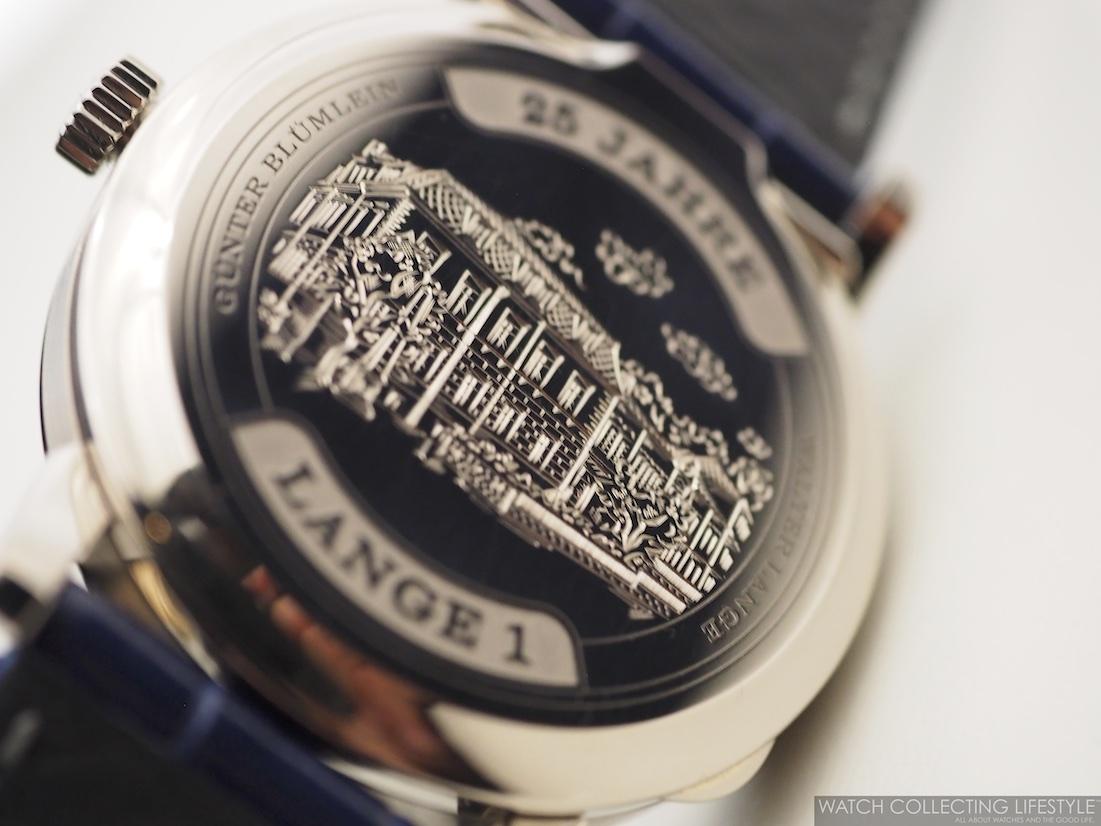 """A. Lange & Söhne Lange 1 """"25th Anniversary"""" Case Back"""
