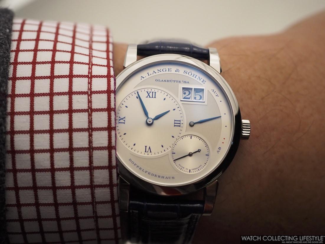 """A. Lange & Söhne Lange 1 """"25th Anniversary"""" Wristshot"""