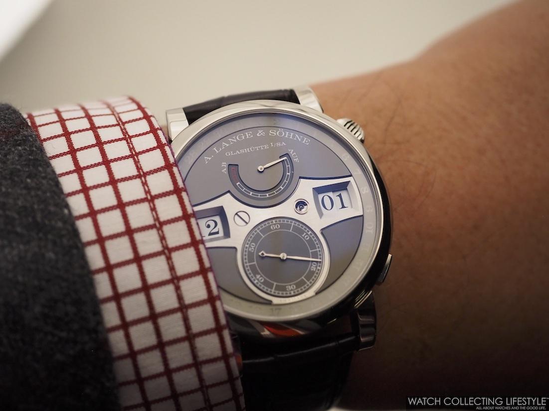 A. Lange & Söhne Zeitwerk Date Wristshot WCL