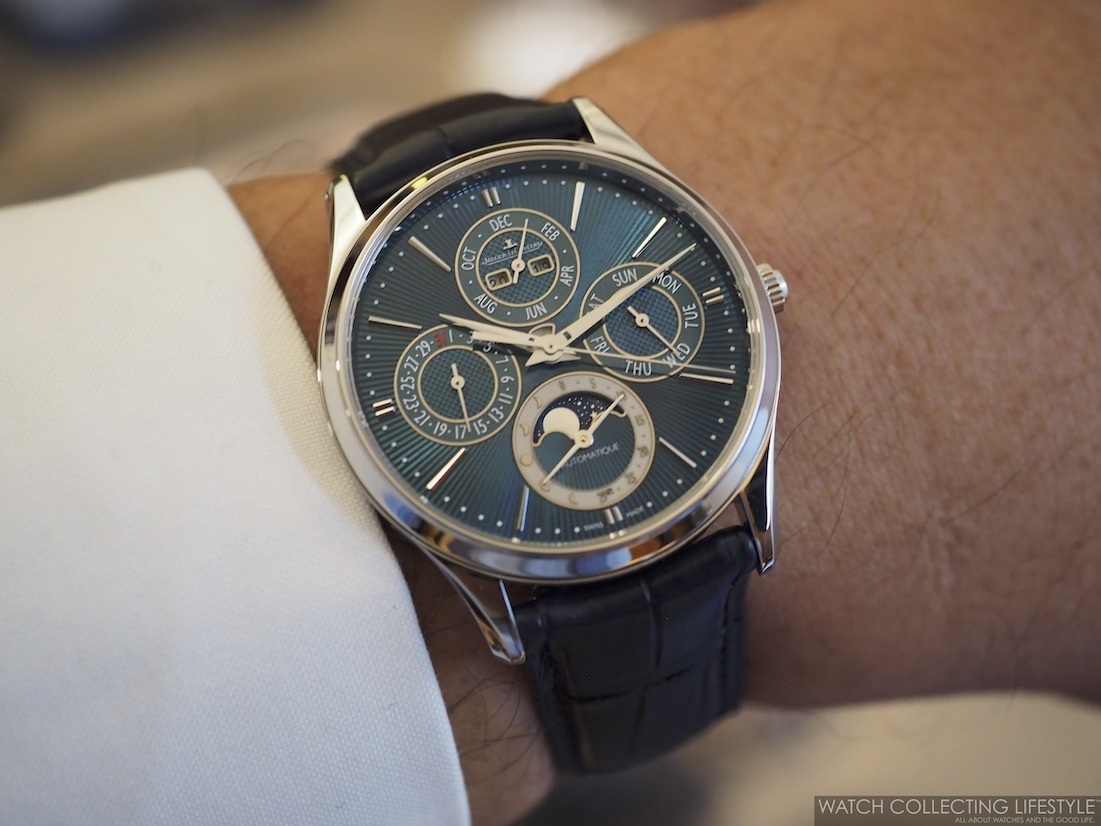 Jaeger-LeCoultre Master Ultra Thin Perpetual Enamel Wristshot
