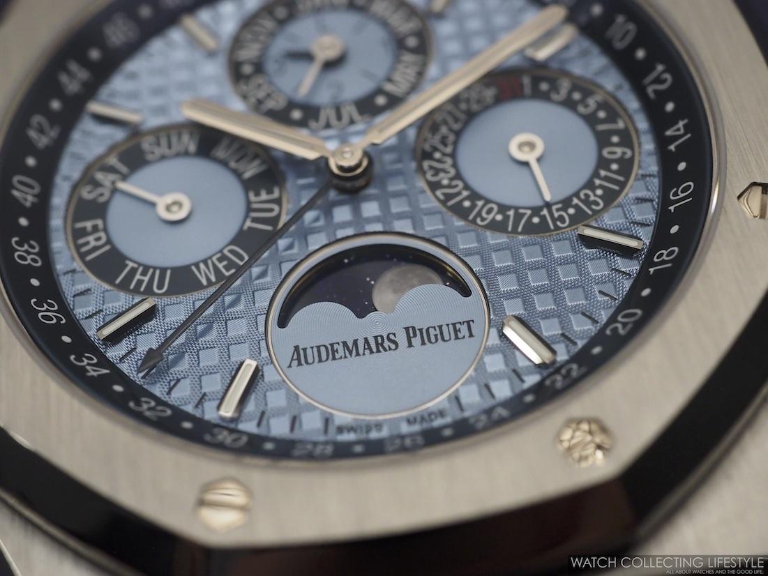 Audemars Piguet Royal Oak Perpetual Calendar ref. 26574PT Ice Blue WCL Macro