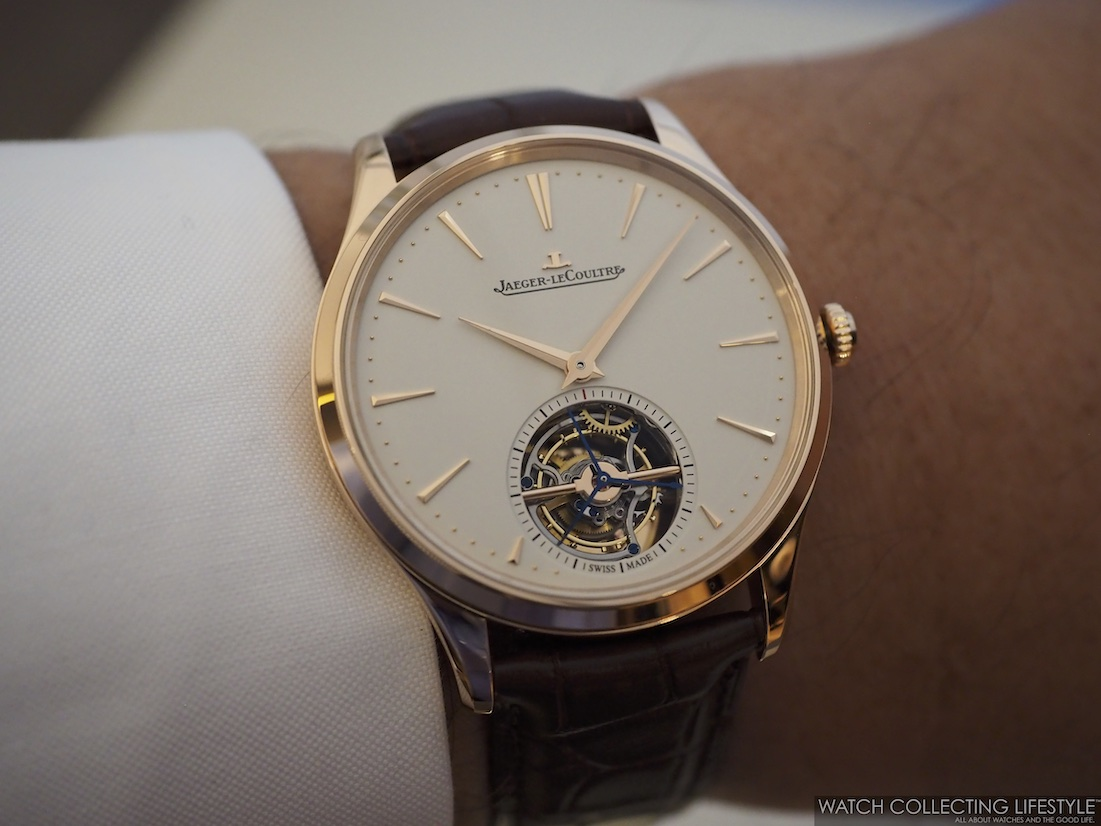Jaeger-LeCoutlre Master Ultra Thin Tourbillon Pink Gold Wristshot
