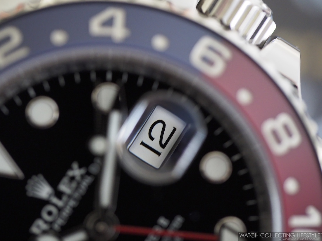 Rolex GMT Master II ref. 126710 BLRO Date Window WCL