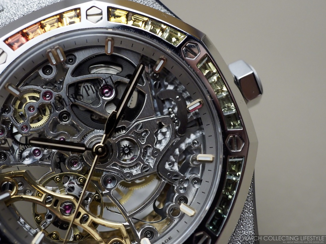 Audemars Piguet Royal Oak Frosted Gold Double Balance Openworked 'Rainbow' ref. 15468BC