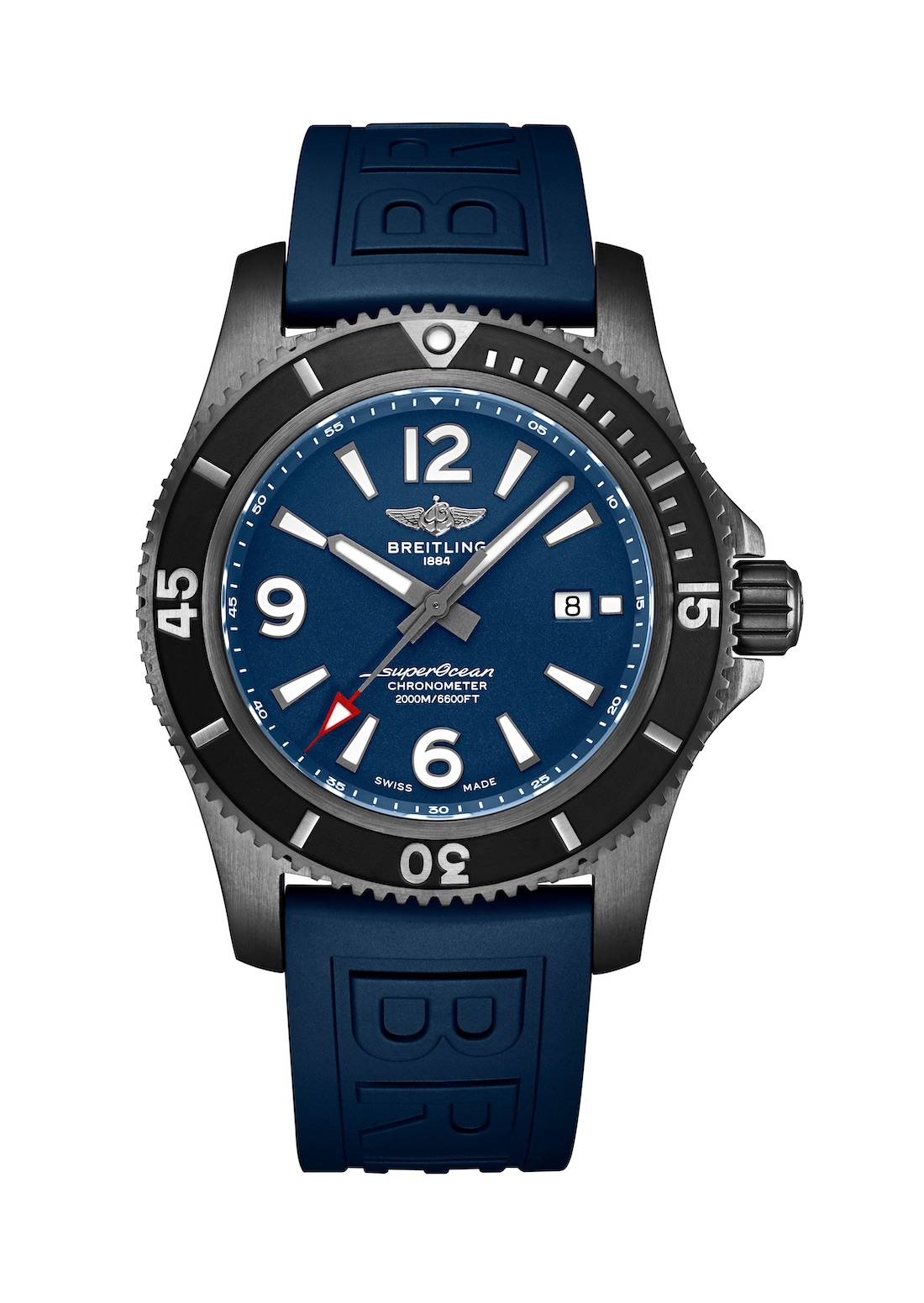 04_Superocean 46 in black steel with blue dial and blue Diver Pro III rubber strap_22851_19-03-19.jpg