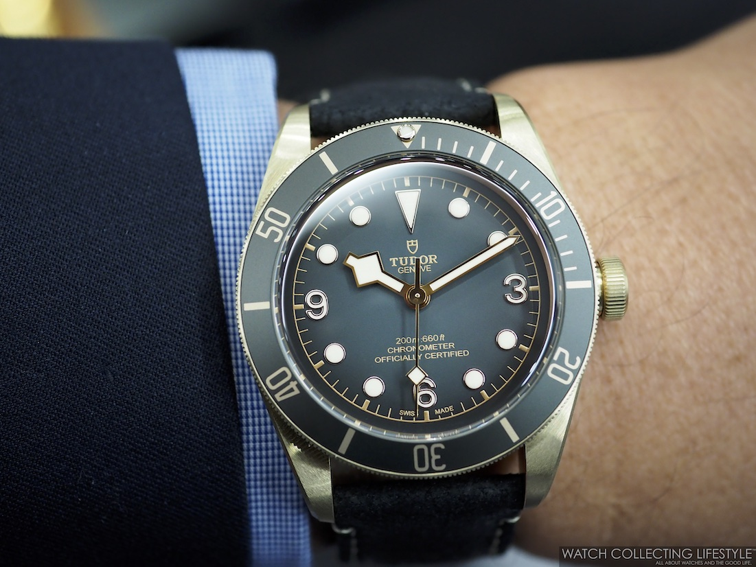 Tudor Black Bay Bronze Black ref. M79250BA-0001 Wristshot