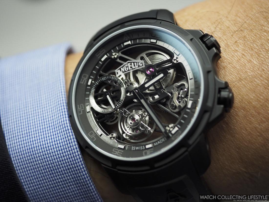 Angelus U50 Diver Tourbillon Black Edition WCL Wristshot
