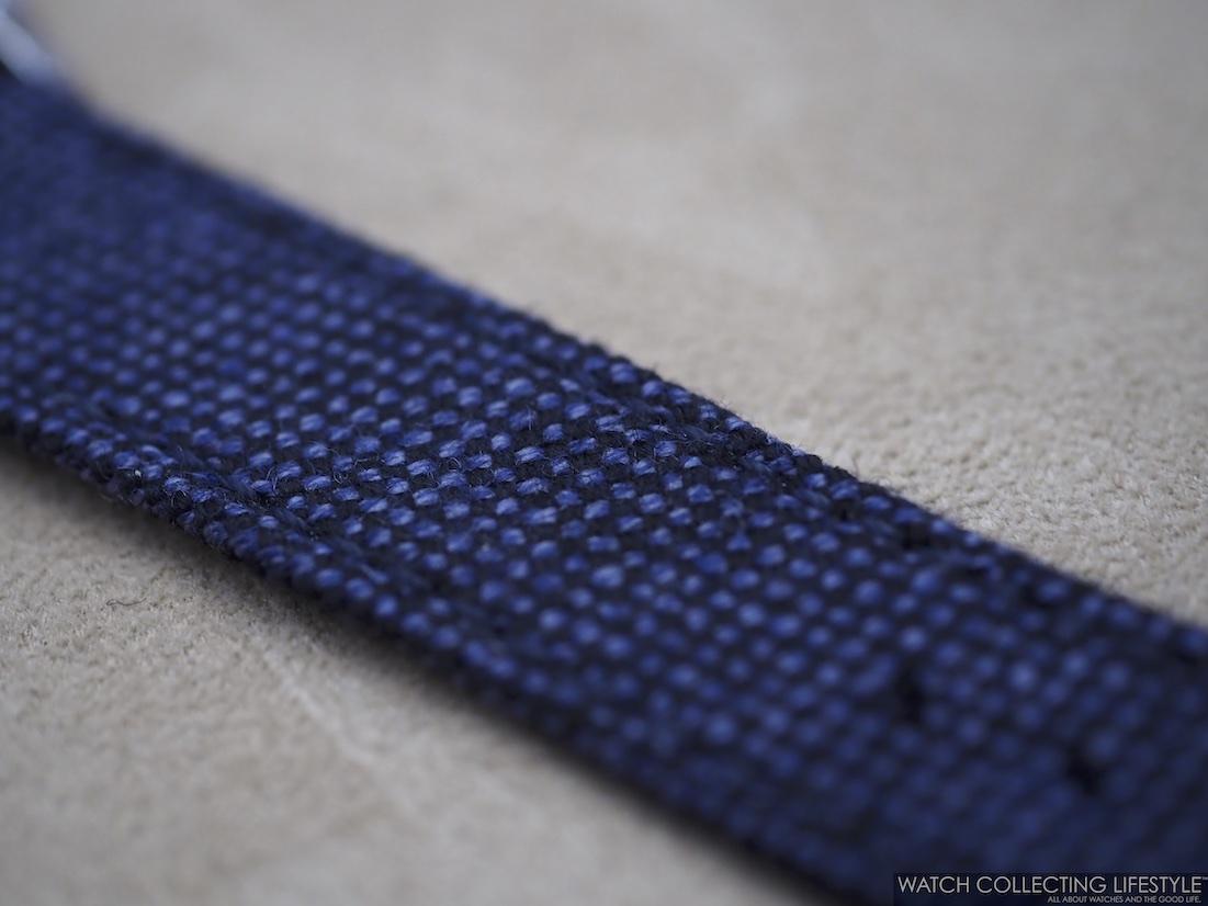 Chopard XP Galvanic Blue Wool Strap