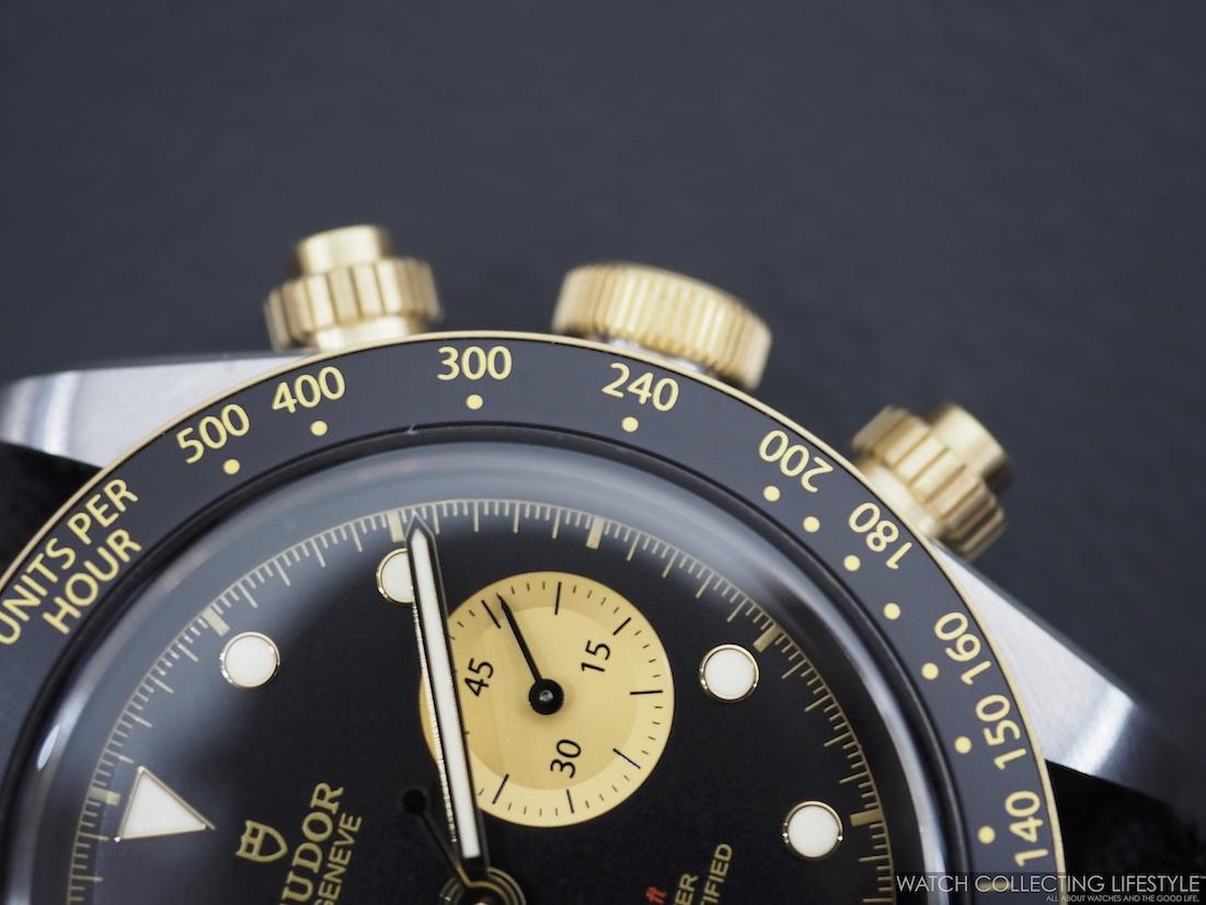 Tudor Black Bay Chrono Steel & Gold ref. MT5813 Bezel