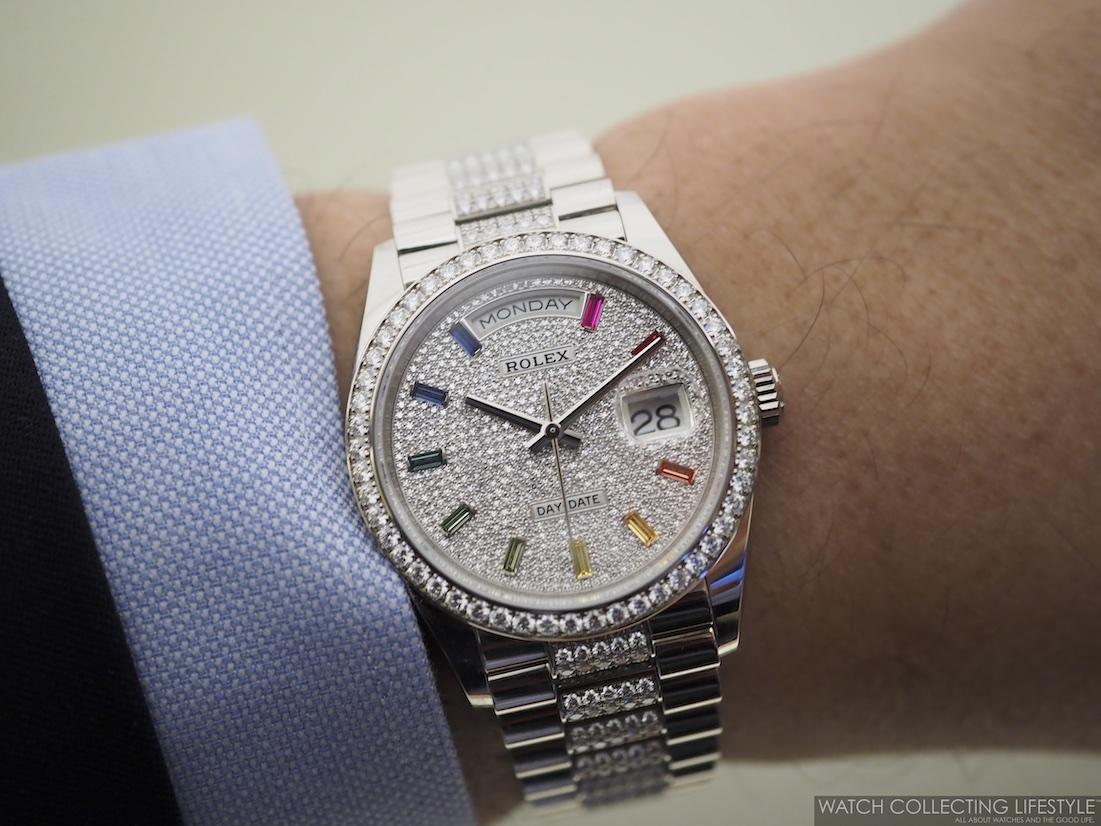 Rolex Day-Date 36 ref. 128349RBR Wristshot