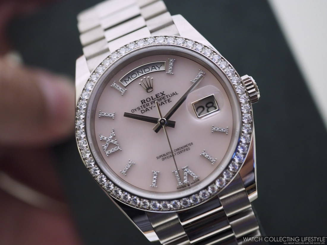 Rolex Day-Date ref. 128349RBR with pink opal dial