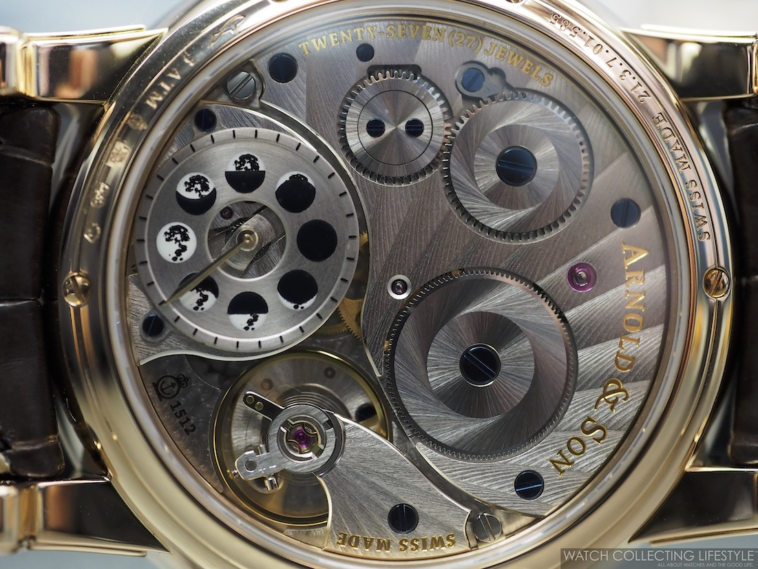 Arnold & Son HM Perpetual Moon Aventurine WCL Case Back