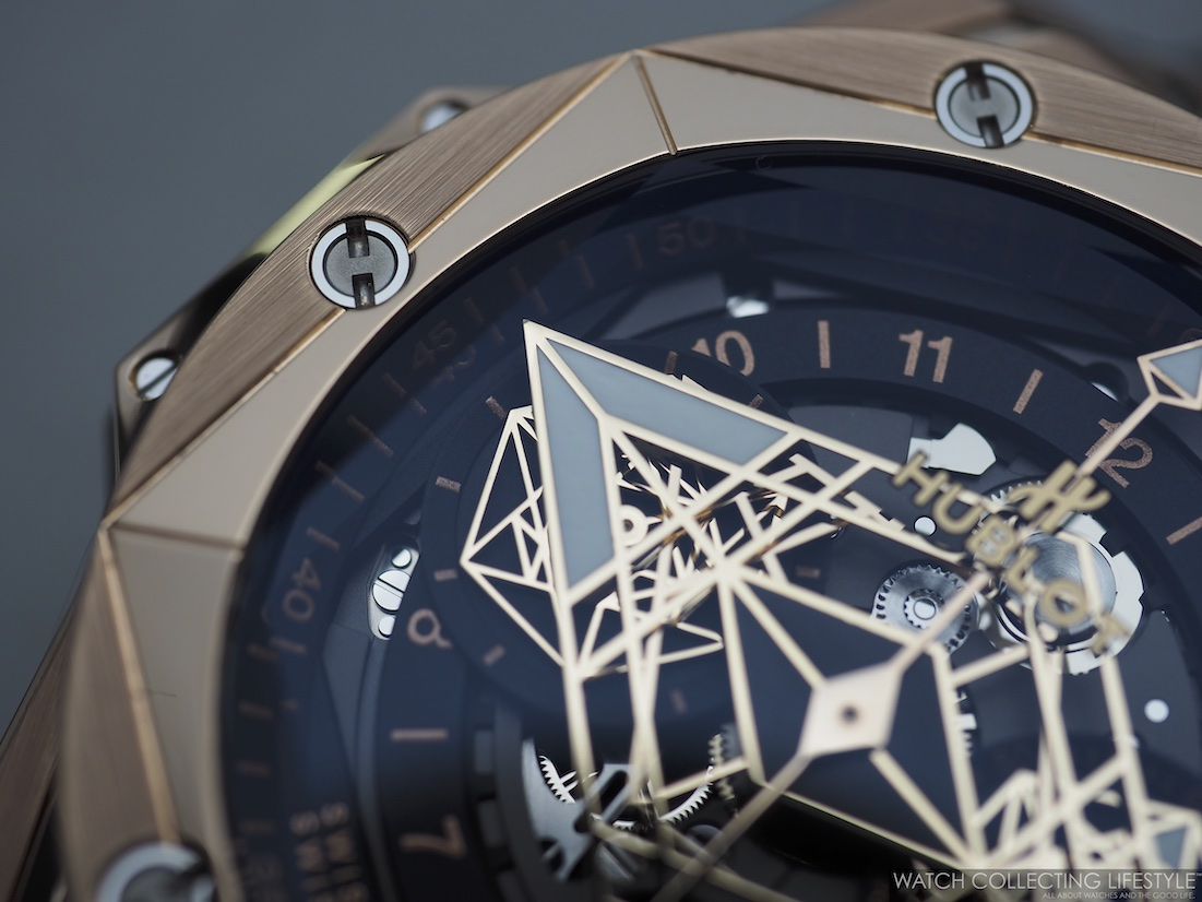 Hublot Big Bang Unico Sang Bleu II KIng Gold Macro WCL