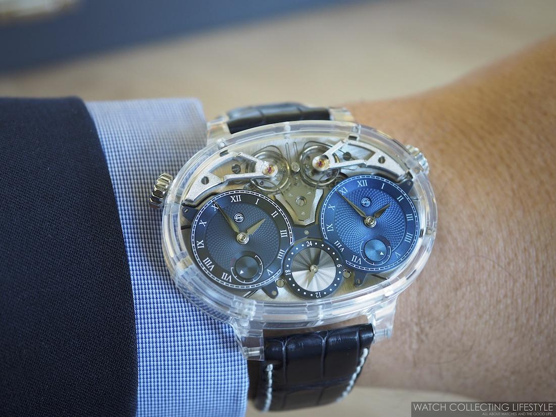 Armin Strom Dual Time Resonance Sapphire Wristshot WCL