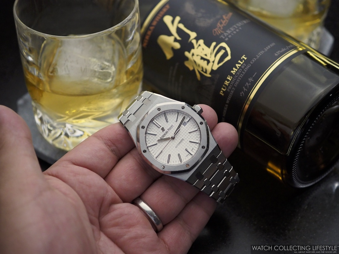 Audemars Piguet Royal Oak  15400 with Nikka Whisky Taketsuru
