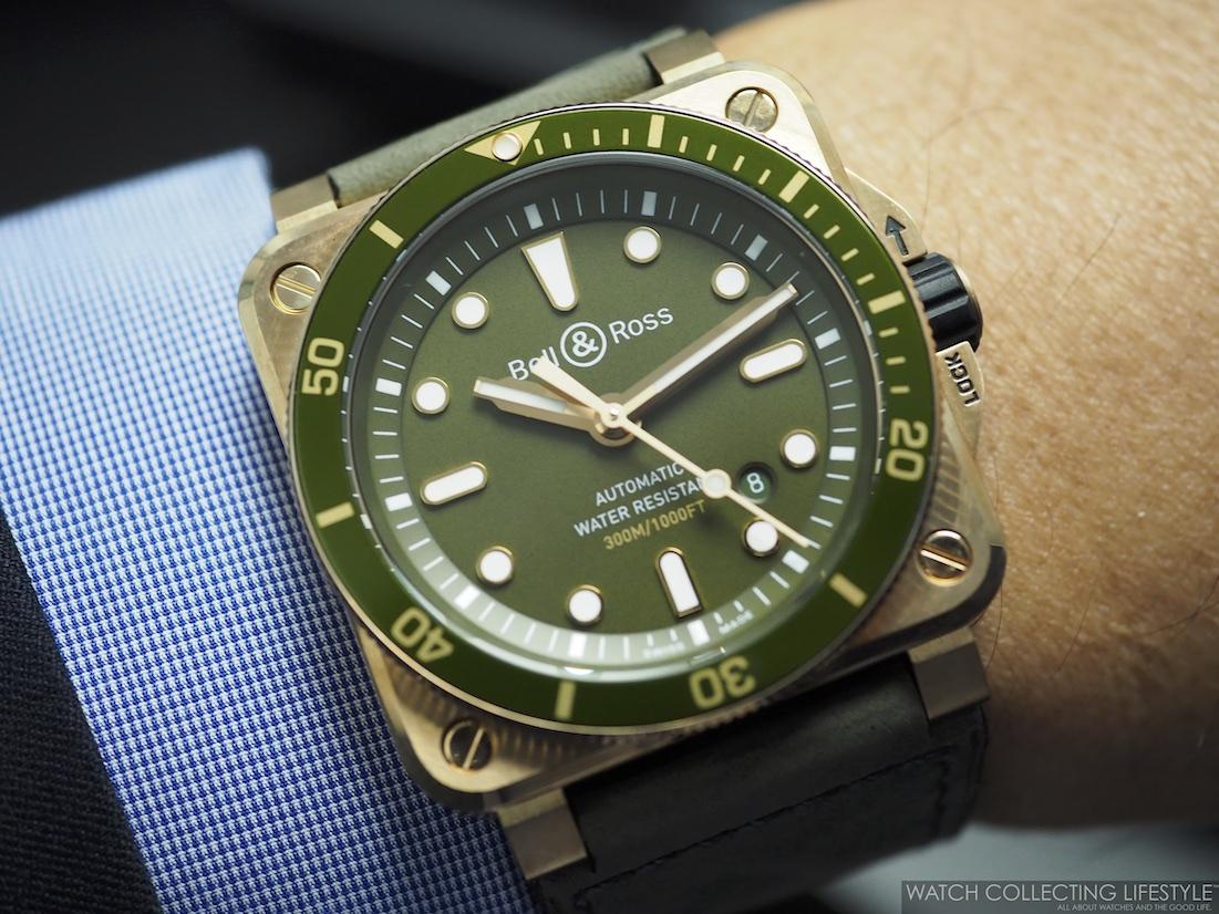 Bell Ross BR 03-92 Diver Green Bronze Wristshot WCL