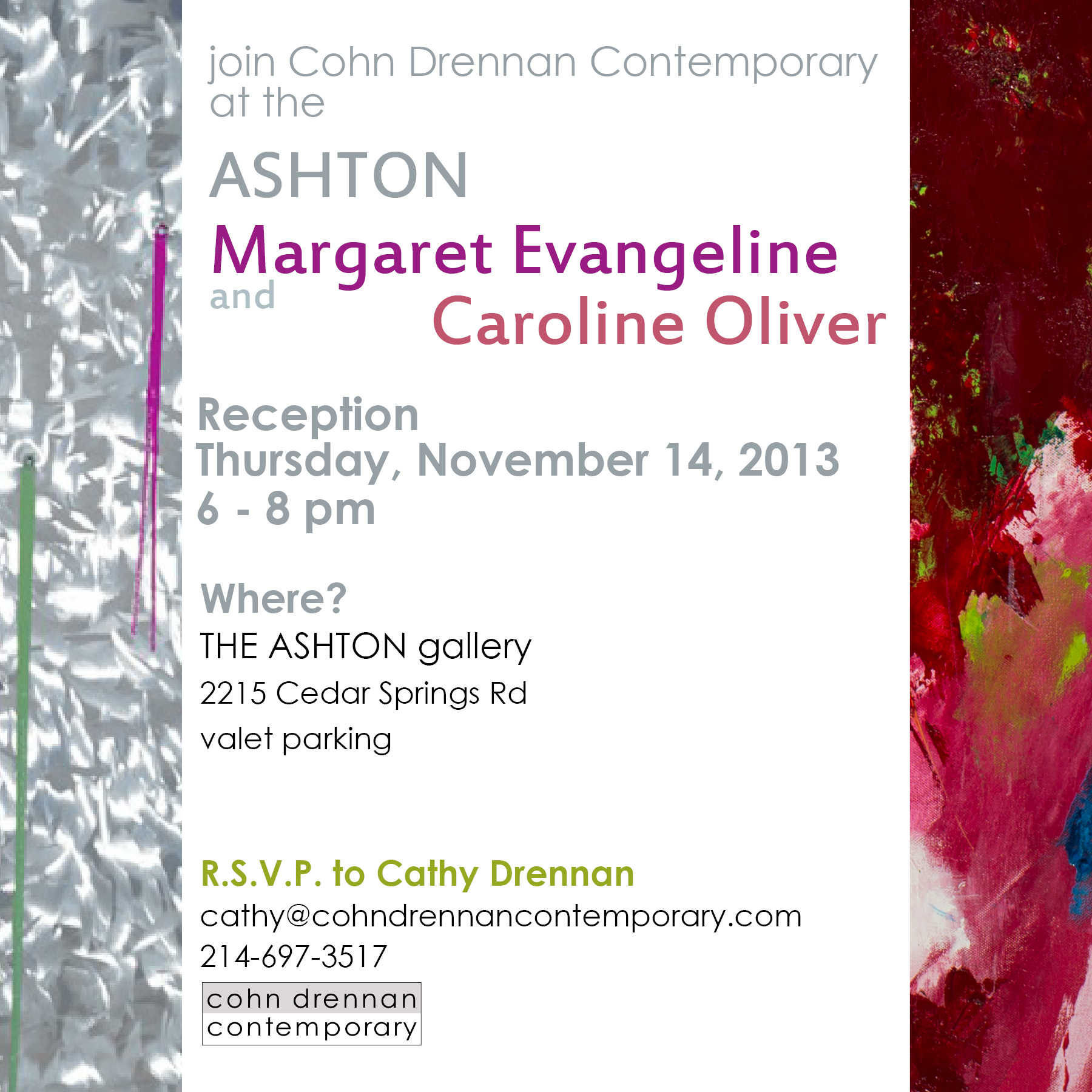 I am SO excited for this!!! It sincerely is an INCREDIBLE honor to have work next to Margaret Evangeline's...and the fact that they are in windows directly across from Stanley Korshak is the cherry on top. .....Very, very, very sadly--I won't be able to go to the reception on the 14th but I'll be putting together another sometime in December. If you can, please go on the 14th!!! It'll be awesome and you can meet Margaret Evangeline!