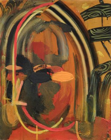 ORANGE HEAD , 2009 Acrylic on canvas 19 1/2 x 15 3/4 inches