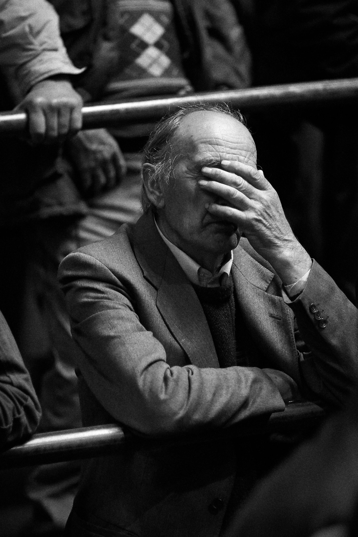 Portrait of Farmer, Draperstown Cattle Mart Market, County Londonderry, Northern Ireland. ©Laurence Gibson.