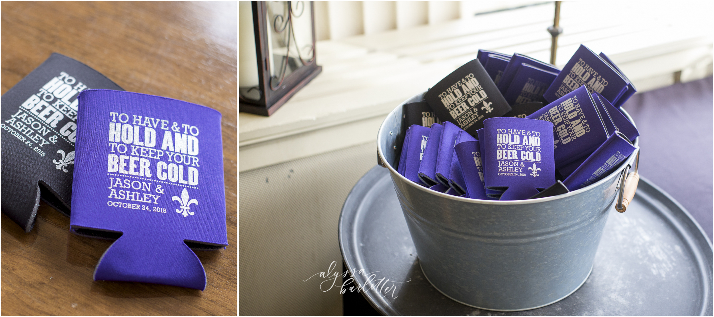 beer koozie favors wedding photographer kansas city