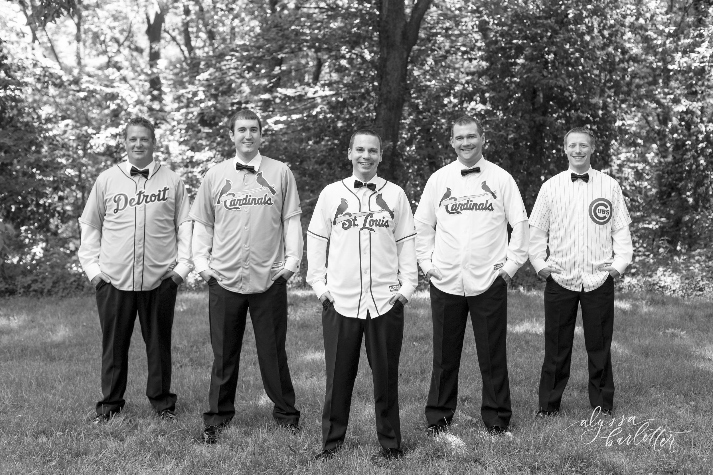alyssa barletter photography groomsmen gifts baseball jersey wedding