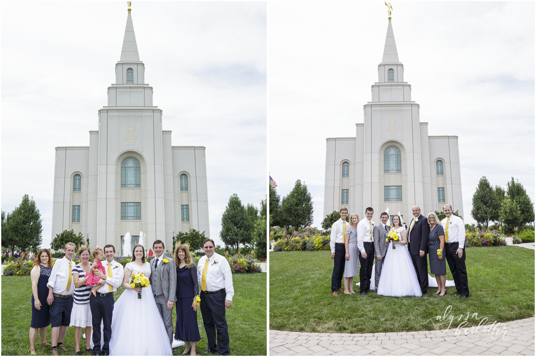 kansas city lds temple wedding family
