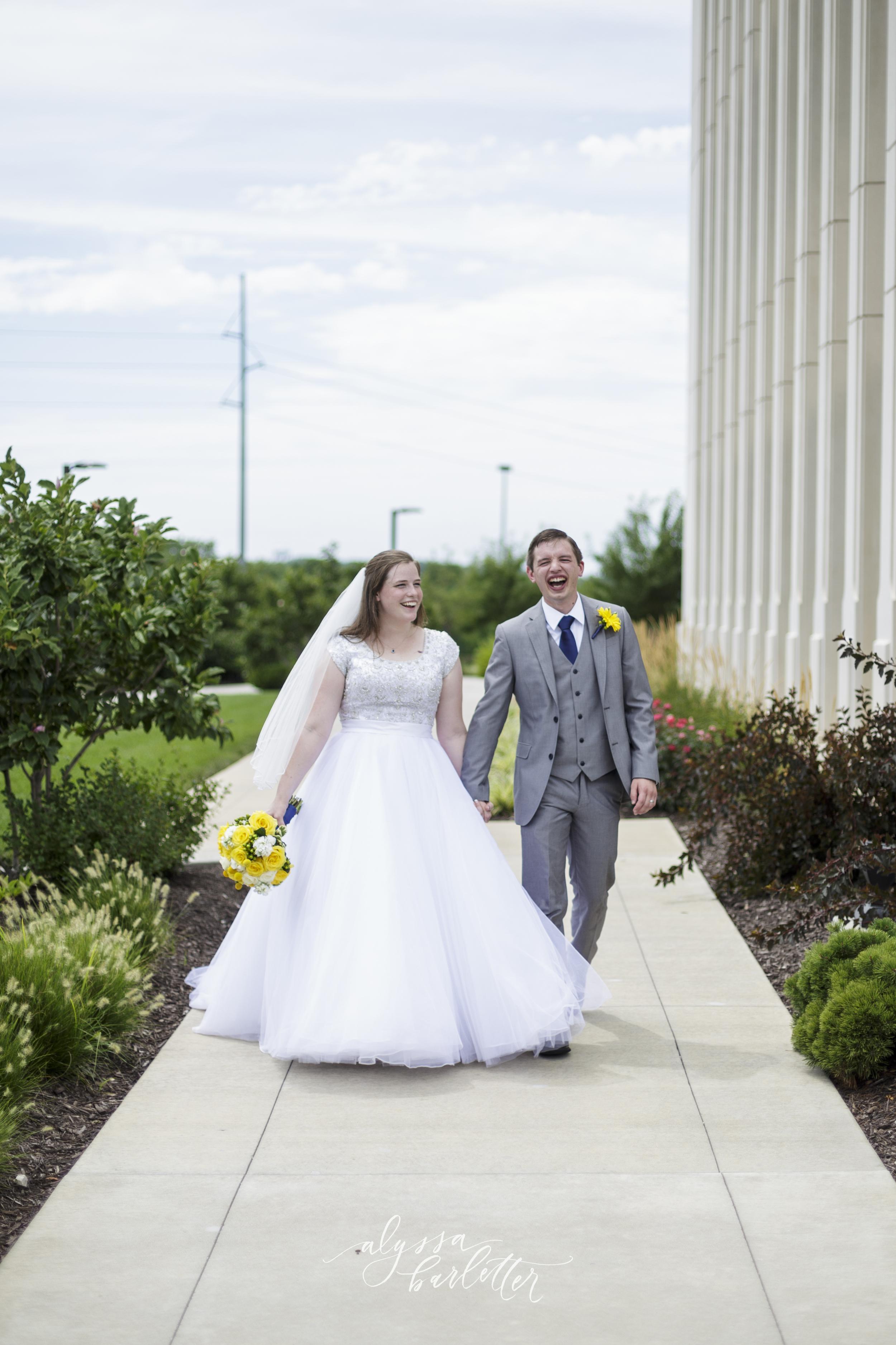 kansas city lds temple wedding bride groom
